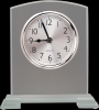 Square Arch Clear Glass Desk Clock with Split Step Base Clocks - Desk