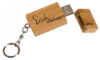 Bamboo Square 8 GB USP Flash Drive with Key Chain Key Chains