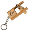 Bamboo 8 GB Flip Style USB Flash Drive With Keychain Key Chains