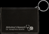 Black/Silver Leatherette ID Holder with Keychain Key Chains