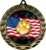 Colorful Paw Insert Medal Mascot Trophies
