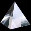 Crystal Pyramid Paperweight Paperweights