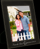 Black/Silver Leatherette Frame Photo Frames