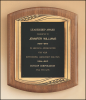 American Walnut Plaque with Antique Bronze Frame Premium Award Plaques
