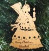 Angel Christmas Ornament Wood Christmas Ornaments