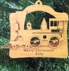 Christmas Train Ornament Wood Christmas Ornaments
