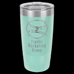 Teal Stainless Steel Ringneck Double Wall Insulated Travel Mug 20 oz Not Yeti Cups