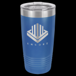 Royal Blue Stainless Steel Ringneck Double Wall Insulated Tumbler 20 oz Not Yeti Cups