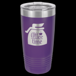 Purple Stainless Steel Ringneck Double Wall Insulated Travel Mug 20 oz Not Yeti Cups