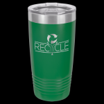 Green Stainless Steel Ringneck Double Wall Insulated Travel Mug 20 oz Not Yeti Cups