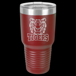 Maroon Stainless Steel Ringneck Double Wall Insulated Travel Mug 30 oz Not Yeti Cups