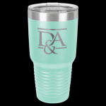 Teal Stainless Steel Ringneck Double Wall Insulated Travel Mug 30 oz Not Yeti Cups