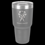 Dark Gray Stainless Steel Ringneck Double Wall Insulated Travel Mug 30 oz Not Yeti Cups