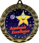 Colorful Academic Excellence Medal Academic Medals