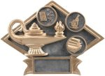 Education Diamond Plate Resin Academic Trophies