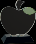 Crystal Apple with Base Academic Trophies