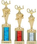 First - Third Place Academic Trophies 4 Academic Trophies