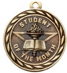Scholastic Student Of The Month Medal Academic Trophies