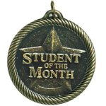 Value Student Of The Month Medal Academic Trophies
