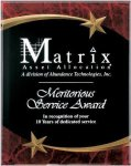 Red Marble Shooting Star Acrylic Award Recognition Plaque Acrylic Award Plaques