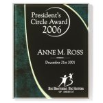 Horizon Emerald Green Acrylic Plaque Acrylic Award Plaques