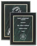 Marbled Green Acrylic Plaque Acrylic Award Plaques