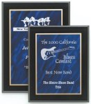 Marbled Blue Acrylic Plaque Acrylic Award Plaques