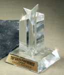 Star Acrylic Award Clear Acrylic Award Trophies