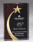 Shooting Star Acrylic Award - Red Acrylic Awards with Background Design