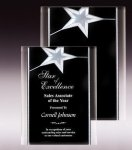 Silver Star Acrylic Plaque Acrylic Awards with Background Design