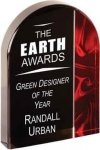 Red Velvet Arch Acrylic Acrylic Awards with Background Design