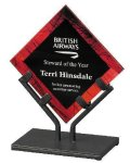 Acrylic Art Galaxy Award - Red Acrylic Awards with Stand