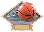Basketball Diamond Plate Resin All Trophy Awards