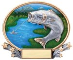 Fishing 3D Oval Trophy All Trophy Awards