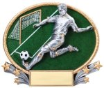 Soccer 3D Oval Trophy (Male) All Trophy Awards