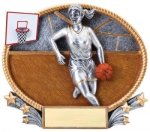 Basketball 3D Oval Trophy (Female) All Trophy Awards