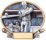 Baseball 3D Oval Trophy All Trophy Awards