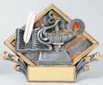 Resin Diamond Plate Lamp Of Knowledge All Trophy Awards