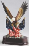 Eagle with American Flag On Base All Trophy Awards