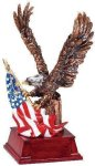Eagle and Flag Copper With Cherry Base All Trophy Awards