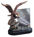 Eagle On Rock With Glass All Trophy Awards