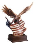 Eagle With Flag  Wing Span All Trophy Awards