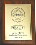 Army JROTC Academic Competition - June 2020 Army JROTC Competition Plaques 2020