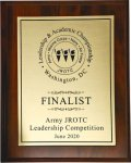 Army JROTC Leadership Competition - June 2020 Army JROTC Competition Plaques 2020