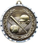 Diamond Cut Baseball Medal Baseball Medals