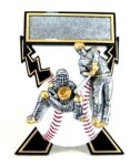 Lightning Bolts Baseball Award Baseball Trophies