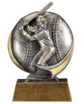 Baseball 3D Motion Trophy (Male) Baseball Trophies