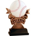 Ribbon Baseball Resin Baseball Trophies