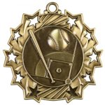Ten Star Baseball Medal Baseball Trophies