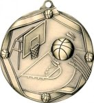 Ribbon Basketball Medal Basketball Medals